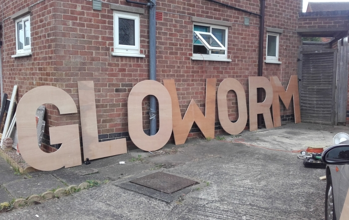 Gloworm Festival sign build