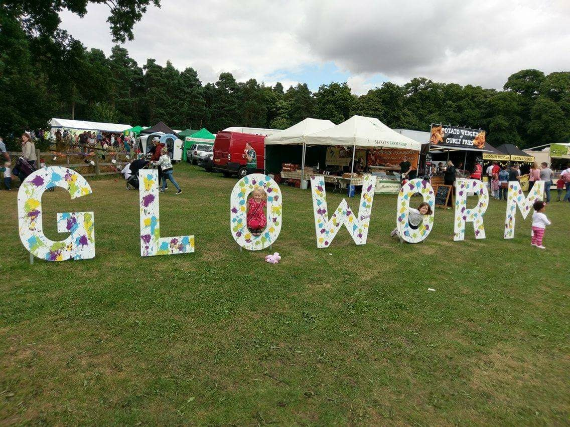 Gloworm festival sign